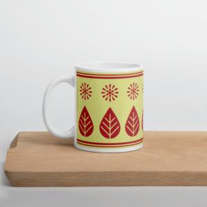 Scandinavian Retro Mug_Wine leaf