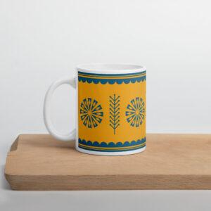 Scandinavian Retro Mug_Yellow with blue star