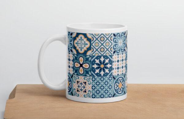 Traditional spanish tiles mug for the morning coffee
