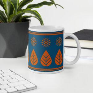 Morning coffee, evening tea scandinavian retro mug