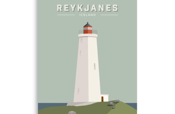 Reykjanesviti poster prints
