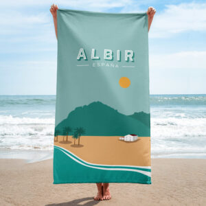 Stand out from the crowd on the beach with towel from Vår Studio